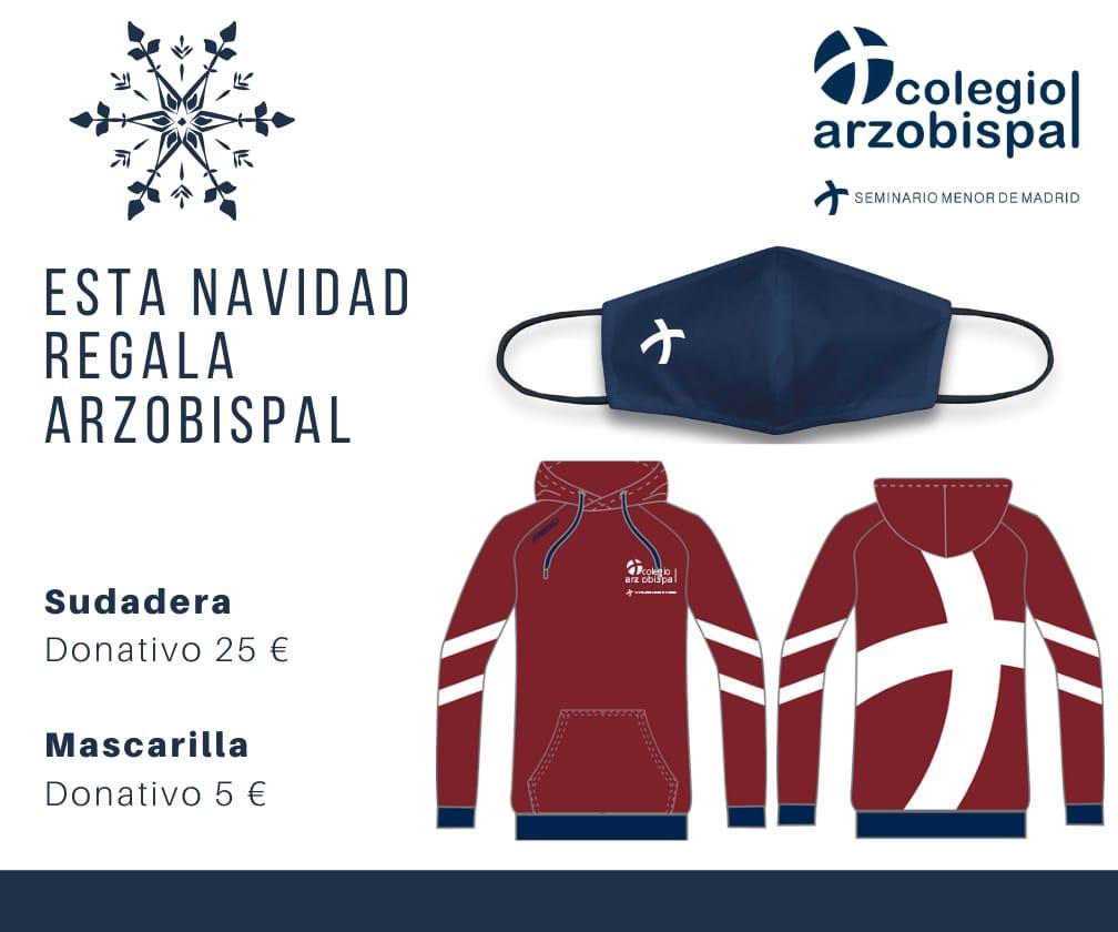 Sudadera y mascarilla - Colegio Arzobispal